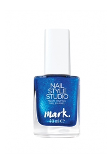 Avon Mark Neon Tropics Oje 10 Ml Electric Blue Mavi